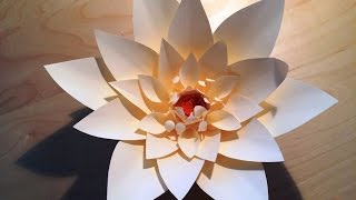 DIY Giant paper flowers : Backdrop decoration : Paper craft : papieren bloemen