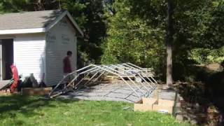 Installation of my Shelter Logic 12x20x9 portable Barn Garage