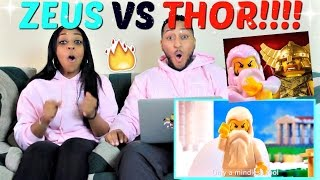 "Epic Rap Battles of History ""Zeus vs Thor"" REACTION!!!!"