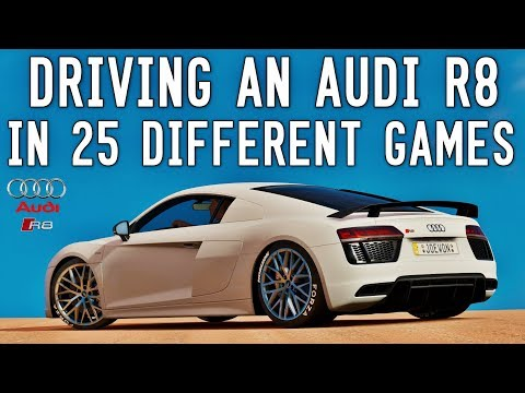 Driving an Audi R8 in 25 Different Games - ULTIMATE GAME COMPARISON