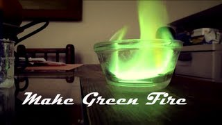 How to make Green Fire from Borax / How to make Boric Acid/ How to make wildfire