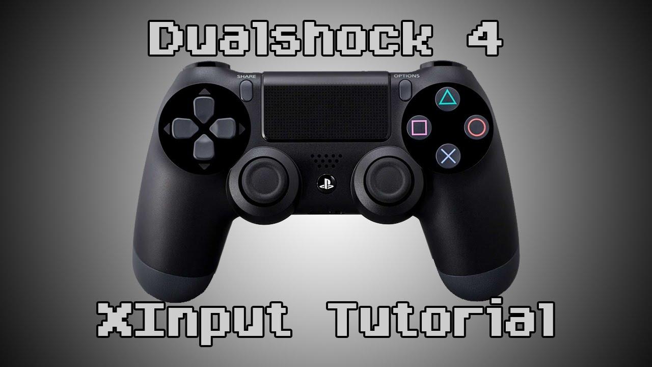 Dualshock 4 Controller XInput Tutorial