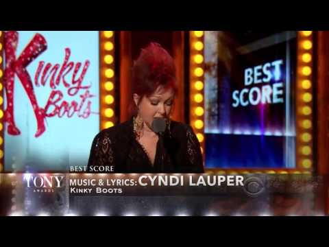 Cyndi Lauper   Best Score 'Kinky Boots'   Tony Awards 20131]