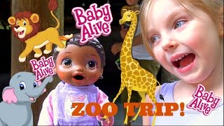 BABY ALIVE goes to the ZOO! FUN DAY OUT! The Lilly and Mommy Show. The TOYTASTIC sisters