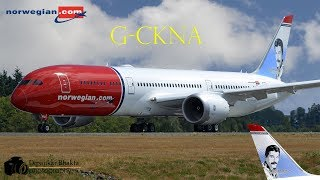 Norwegian Air UK B787-9 (G-CKNA) delivery flight Paine field USA PAE to Oslo Norway OSL