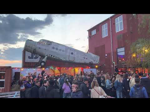 Party like you are in Copenhagen (post-Covid reopening party under a Soviet plane)