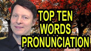 Top 10 words you could be saying wrong | STARTS AT 1 min 45 secs| Learn English Pronunciation Live