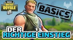 Der Einstieg ins Spiel - ♠ Fortnite Battle Royale Tutorial #001 ♠ - Deutsch German - Dhalucard