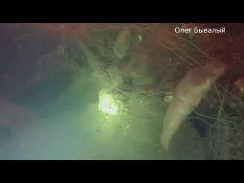 Затопленные объекты на Волге  Балаково  Пустынный Земснаряд Сом