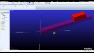 MSC ADAMS inclined plane tutorial