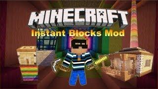 Download Instant Blocks Mod Videos Dcyoutube - Minecraft moderne hauser lekoopa