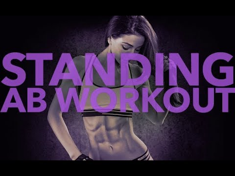 Standing Abs Workout (FLAT STOMACH WITH NO CRUNCHES!!)