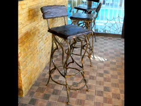 Красивая барная мебель кованая из металла мебель для бара, для кафе, для ресторана.