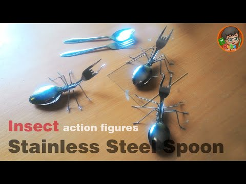 How to Make Insect Action Figures made from Stainless Steel Spoon | DIY Toys !