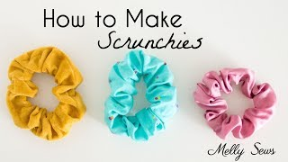 How to Sew Scrunchies - DIY Hair Band Tutorial