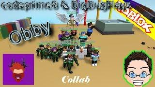 Roblox - codeprime8 & DigDugPlays Obby - W/ DatHeadSetBoy