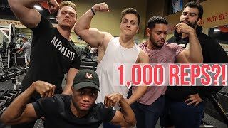 1,000 REP WORKOUT CHALLENGE | WHO CAN DO 1,000 REPS THE FASTEST?