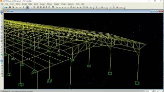 SAP2000 - Steel Truss (Simplified Analysis & Design)