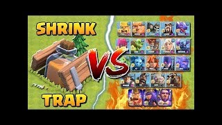 SHRINK TRAP VS ALL TROOPS - COC NEW EVENT - WITCH BUILDER - GAMEPLAY - CLASH OF CLANS
