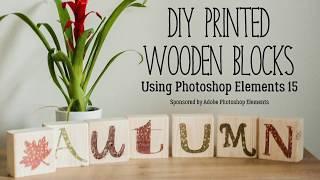 DIY Autumn Wood Block Decor