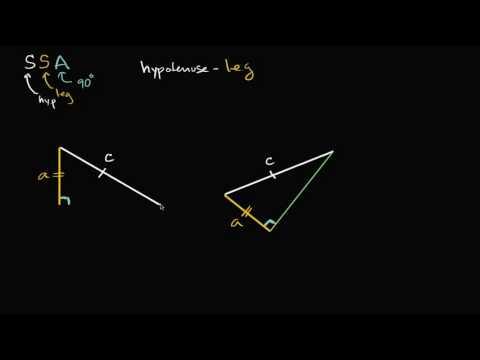 Hypotenuse Leg Congruence