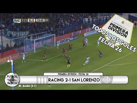 TODOS LOS GOLES: Primera División 2017 - Fecha 26