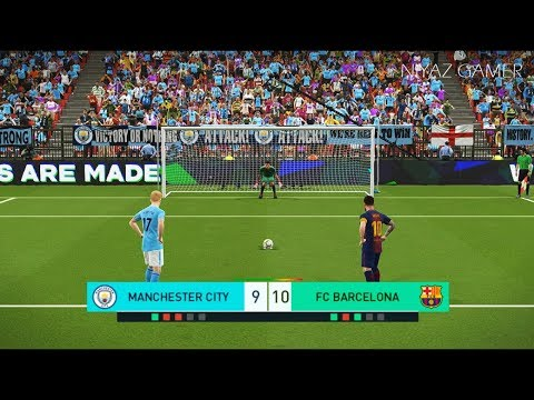 MANCHESTER CITY vs FC BARCELONA | Penalty Shootout | PES 2018 Gameplay PC