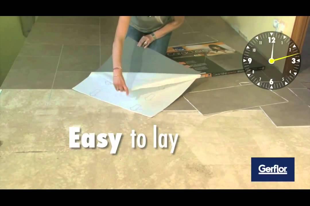 Diy installing gerflor self adhesive tiles youtube