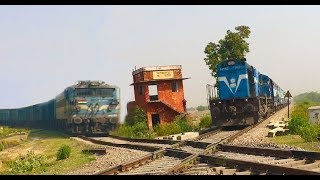 2 Trains Crossover each other at Rare Diamond Crossing of Indian Railways thumbnail