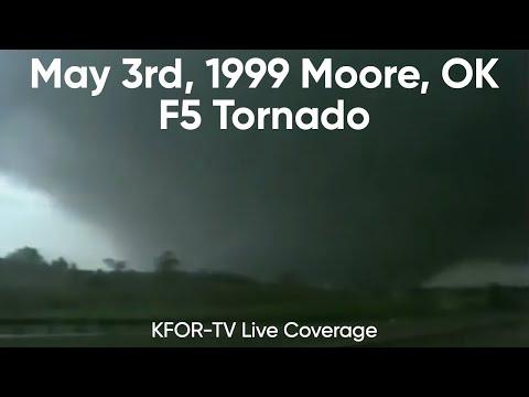 May 3rd, 1999 Moore Oklahoma F5 Tornado (KFOR-TV) Bridge Creek - Del City Live Coverage
