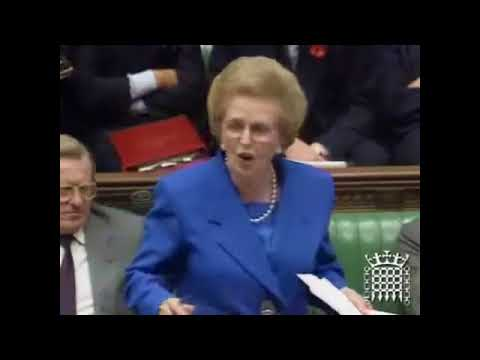 Margaret Thatcher fights viciously against globalist from the labor party