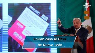 El representante del PAN ante el Instituto señaló que la Unidad Técnica de lo Contencioso decidió declararse incompetente por las declaraciones del Presidente sobre el proceso electoral y enviar el caso al OPLE de Nuevo León