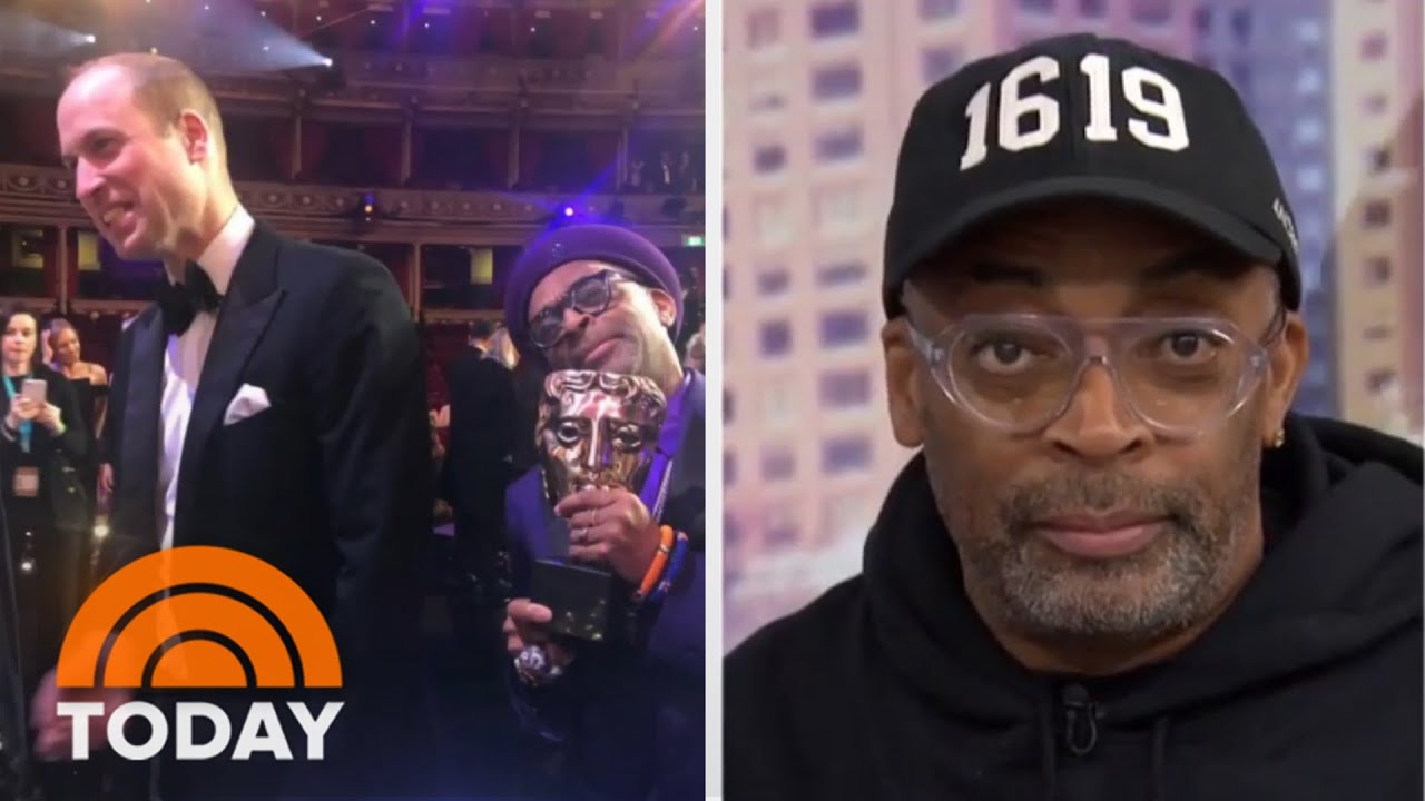 Spike Lee Confronts Prince William About Prince Harry's Secret Facebook Account At BAFTAs | TODAY