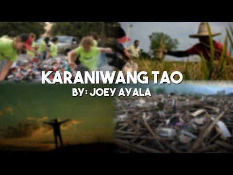Karaniwang Tao by: Joey Ayala (w/ lyrics)