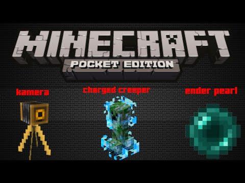 Mineceaft Da Ender Pearl  Kamera  Ve  Charged Creeper