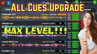 8 Ball Pool - Upgrading Legendary Cues || With Coins 2018!!