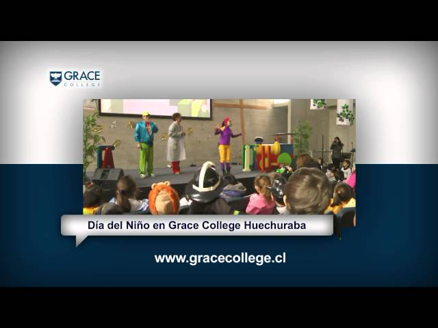 Día del Niño Grace College Huechuraba con obra de teatro Cantando Aprendo a Hablar | Grace TV 10-5 Travel Video