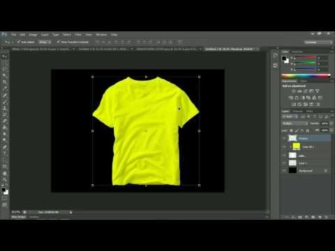 MOCKUP KAOS Sederhana Dan Cepat Dengan Photoshop CS (7 Menit Kelar)