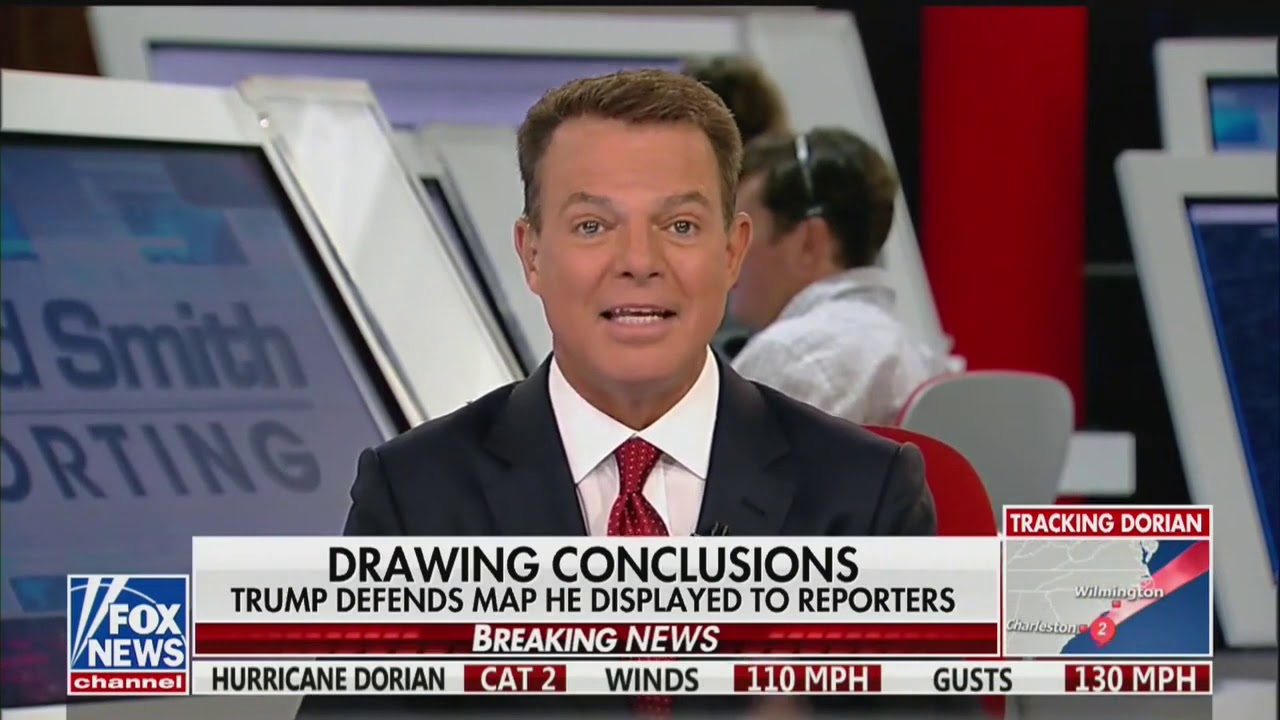 A Fox News anchor ripped on Trump's hurricane map calling it