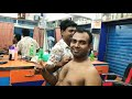 Upper body massage therapy by Indian barber | Relaxing ASMR