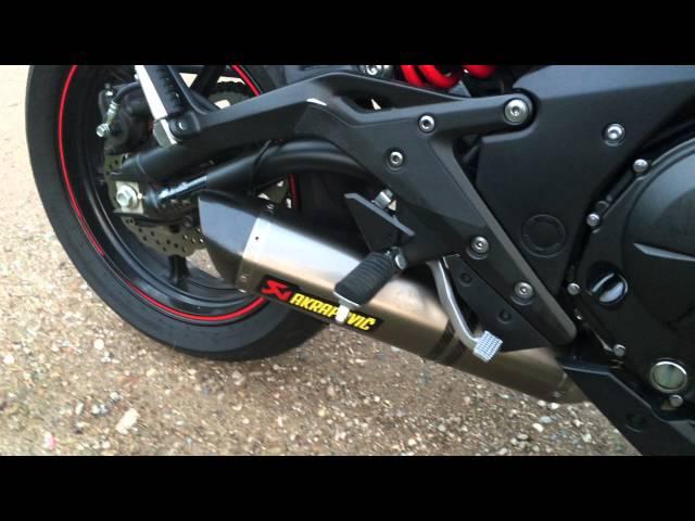 Kawasaki Er6n 2015 Akrapovic Full System Geluid