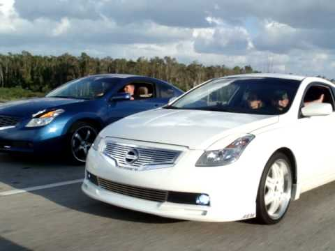 altima coupe white 08 - YouTube
