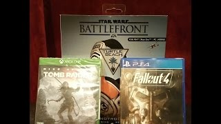 Best Buy Haul Fallout 4, Tomb Raider, Turtle Beach Star Wars BattleFront, Assassin's Creed