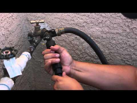 hook up a garden hose