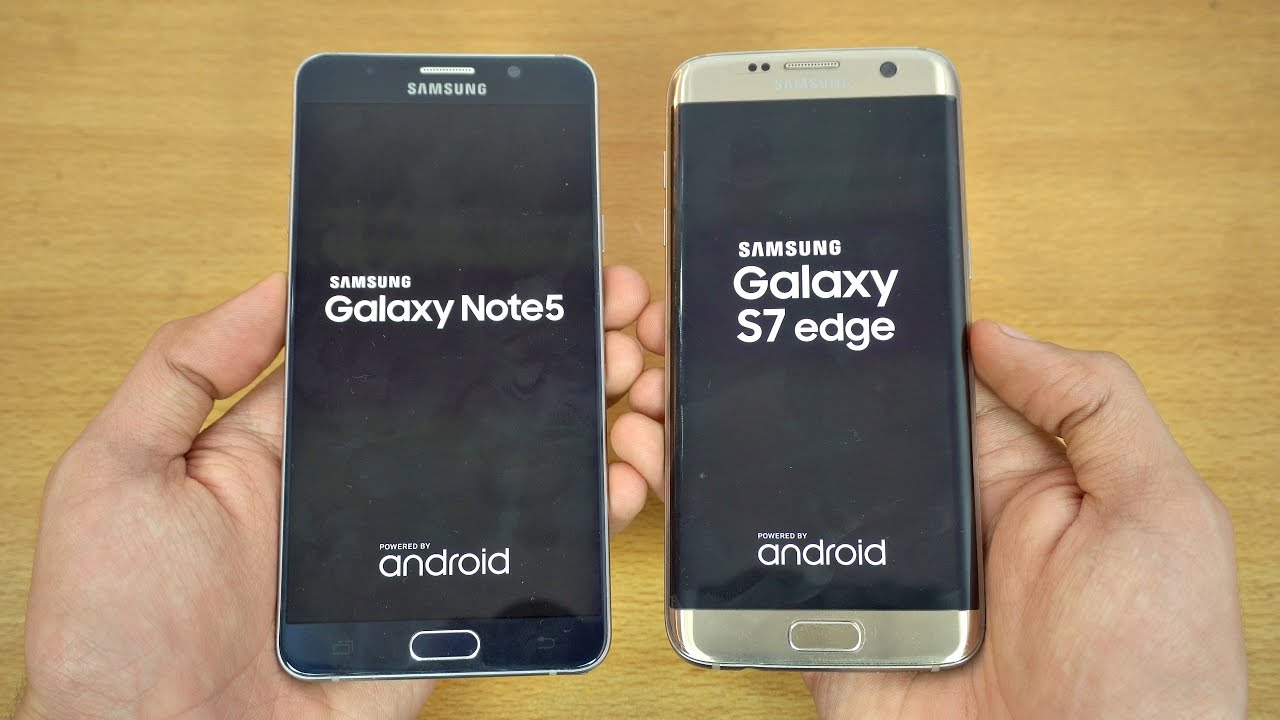 Samsung Galaxy Note 5 Android 7.0 Nougat Vs Galaxy S7 Edge