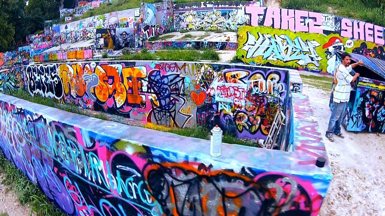 Drone austin graffiti castle
