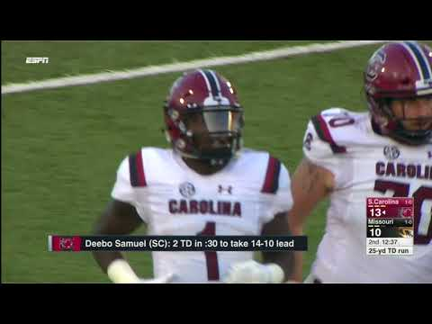 South Carolina vs Missouri NCAA Football Highlights 2017