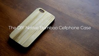 BRICOLAGE de Bambou à la Peau étui de Téléphone