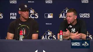 Aaron Judge and Todd Frazier Postgame Interview   Yankees vs Astros Game 3 ALCS