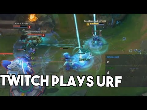 TWITCH CHAT PLAYS URF (Chat commands control spells) - RossBoomsocks Weird League of Legends